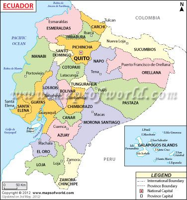 Ecuador Map and Fast Facts