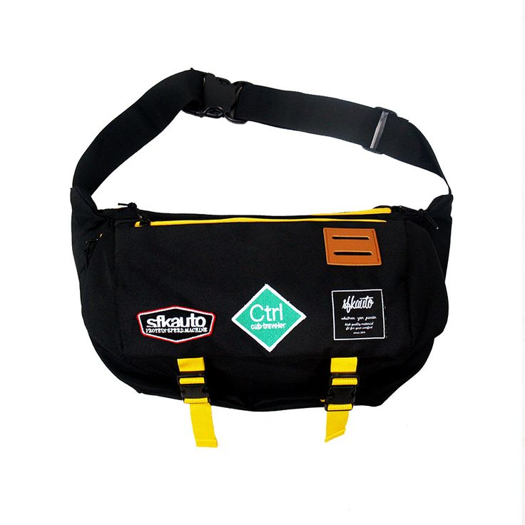 Sfkauto Messenger Bag (Black)  Material : Cordura Embroidery Patch Webbing  IDR : Rp 250.000 - $ 20  Contact: 085721130293 line:sfkauto pin:5F0CC6E4 email: sfk.auto@gmail.com  Available at SFK Store, Rangga Point (Jl. Ranggamalela no.13)  Bandung, Indonesia