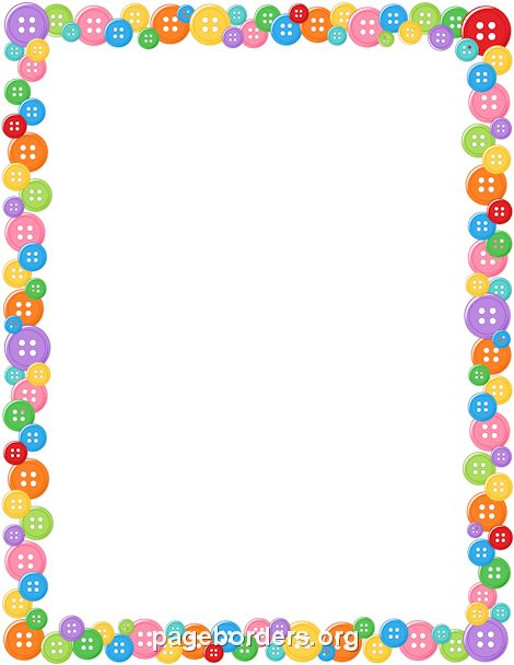 Printable button border. Free GIF, JPG, PDF, and PNG downloads at http://pageborders.org/download/button-border/
