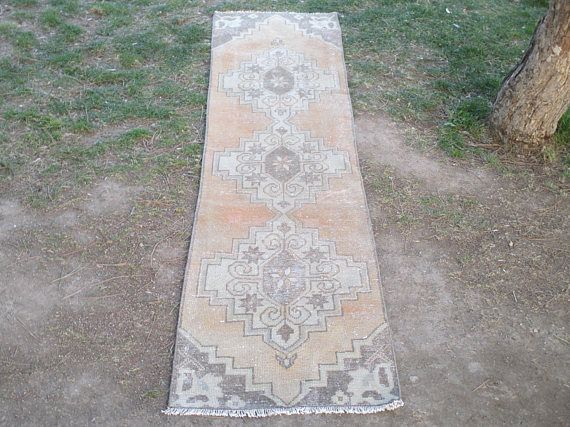 Oushak Rug Runner    105 x 25 inches Muted Color Rug