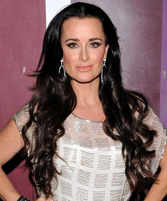 Kyle Richards Long Curls Hairstyles
