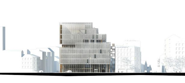 OFFICE BUILDING NEAR PORTE DE CLICHY | NADAU LAVERGNE ARCHITECTS | Archinect