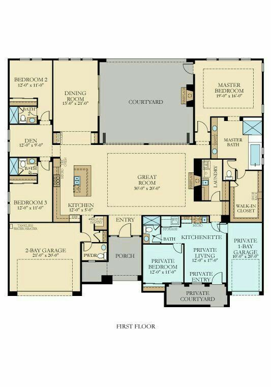 39 best multigenerational house plans images on pinterest What is wic in a floor plan