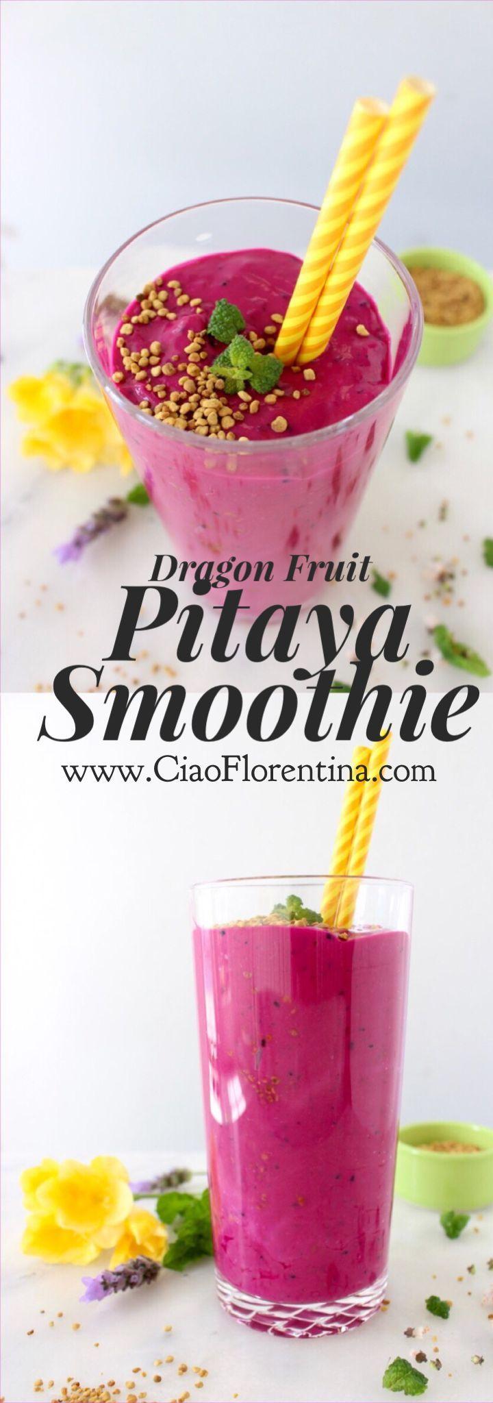 Dragon Fruit Pitaya Smoothie Recipe | CiaoFlorentina.com @CiaoFlorentina