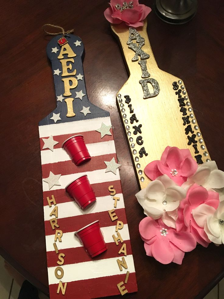 sorority/fraternity paddles AΞΔ ΑΕΠ
