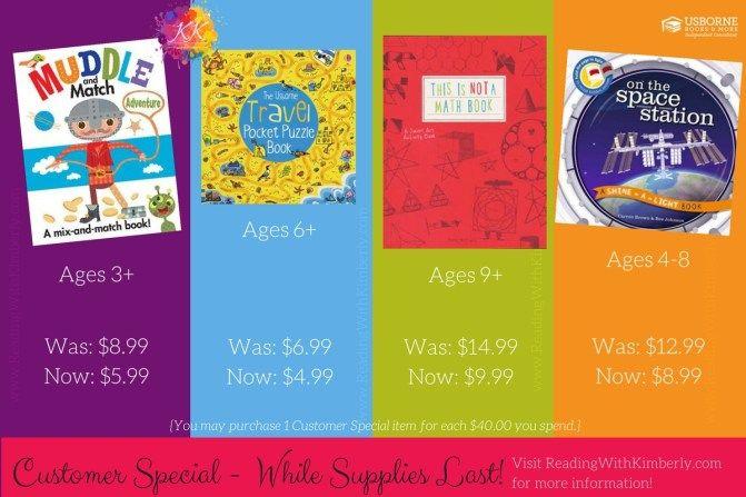 Fun Usborne Books & More titles on customer special!