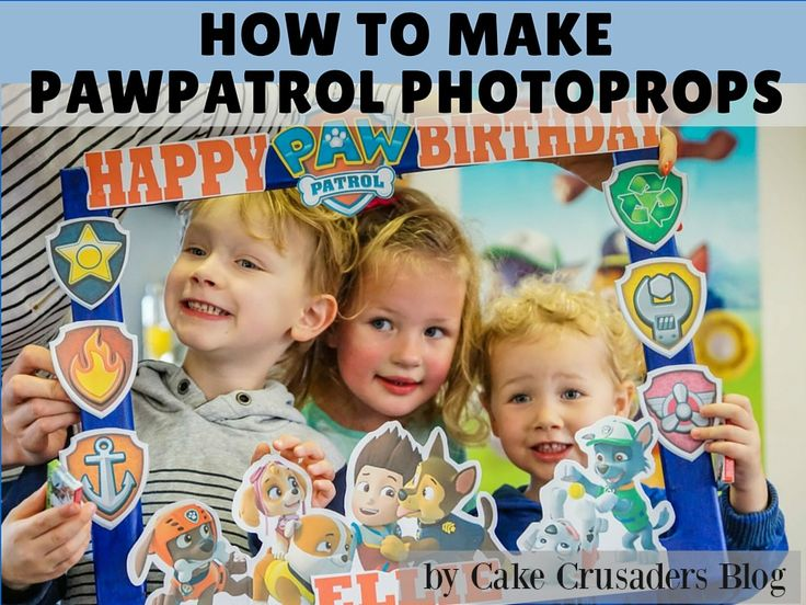 DIY Paw Patrol Photo Prop Frame | FREE printables included