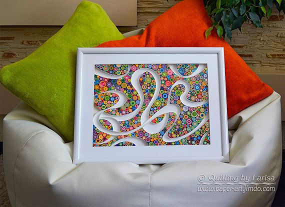 quilling quilling art quilling wall art paper quilling framed gift