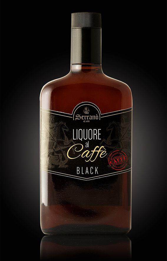 Design etichetta liquore al caffè. Serranò Caffè - Reggio Calabria