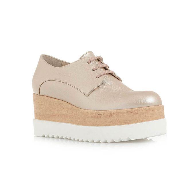 ροζ δερμάτινα παπούτσια τύπου oxfords   Tsakiris Mallas