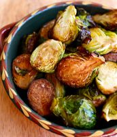 Whenever I make a pan of these super easy balsamic roasted brussels sprouts, I have to swat away my sons' hands so they don't eat them all before dinner.