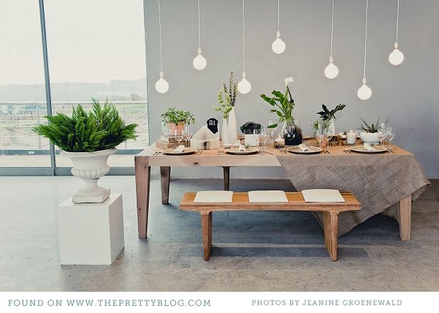 I'm loving this urban, natural #table decor! From http://theprettyblog.com/2012/10/all-natural-table-decor/  Photo Credit: http://jeaninegroenewald.blogspot.com/