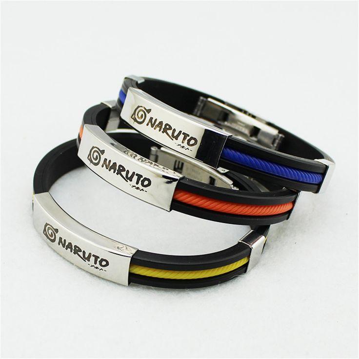 Naruto Silicone Titanium Friendship Wristband Bracelets //Price: $11.59 & FREE Shipping //     #harrypotter #anime #uzumakinaruto #got #gameofthrone #starwars #batman #naruto