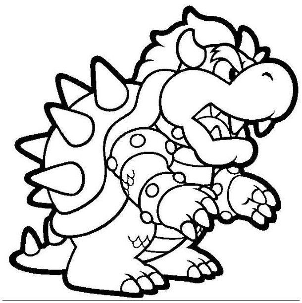 coloring book ~ Printable Bowser Coloring Pages Online Mario Of ... | 612x610