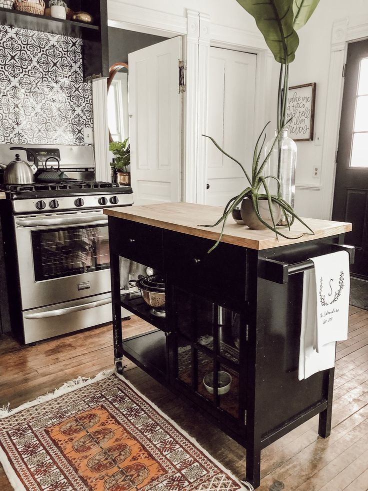 Modern Vintage Victorian House Tour Home Decor Kitchen Eclectic Kitchen Black Kitchens