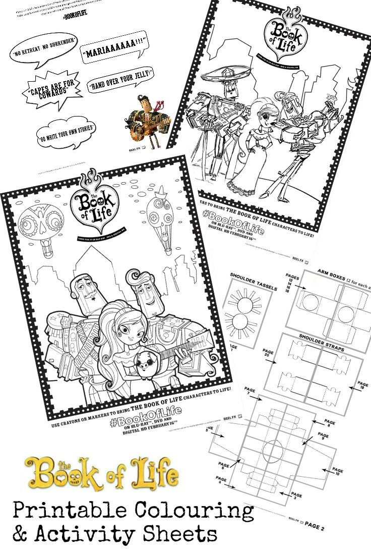 Coloring the book of life - Book Of Life Printables And Twitter Viewing Party Bookoflifebluray