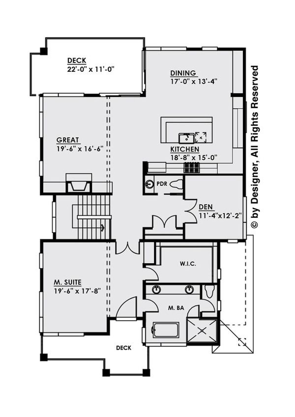 Contemporary Style House Plan 4 Beds 4 Baths 3896 Sq Ft Plan 1066 31 Contemporary Style Homes House Plans Floor Plan Design