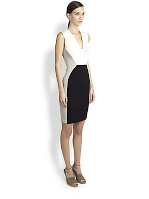 Stella McCartney Colorblock Knit Sheath
