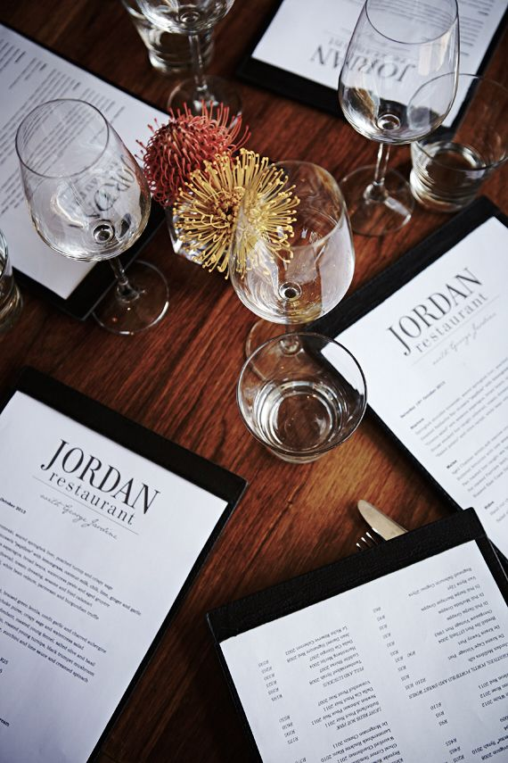 Jordan Restaurant, Stellenbosch | South Africa This vineyard makes the most fabulous Chardonnay ever.