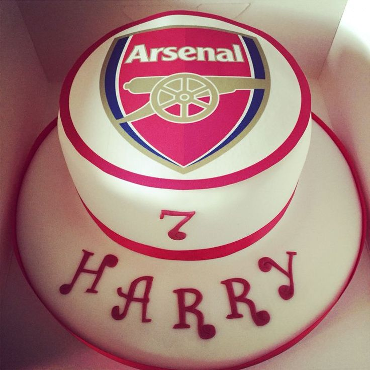 17 best Cakes Arsenal images on Pinterest Football cakes
