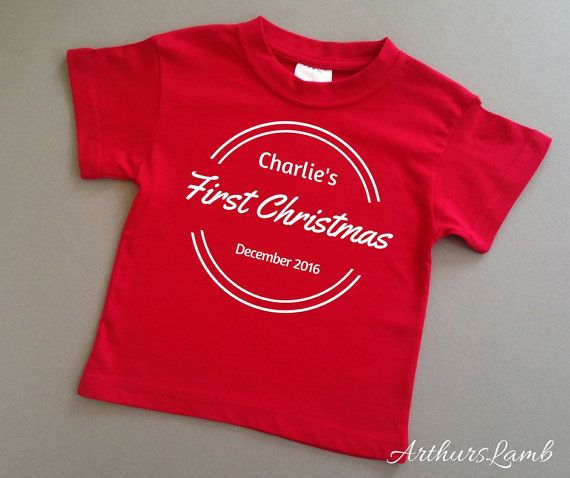 First Christmas,Baby Christmas Outfit,1st Christmas,Babys First Christmas,Christmas Shirt,Christmas T Shirt,Personalised Christmas,Red
