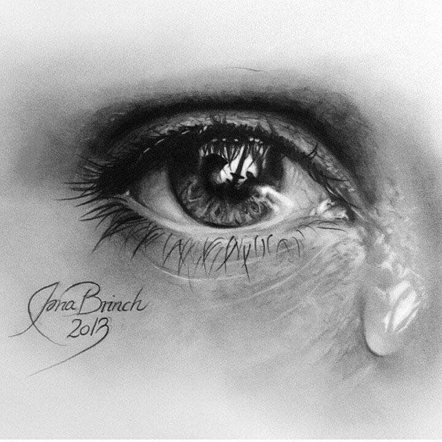 рисунки закрытые глаза со слезами счастье