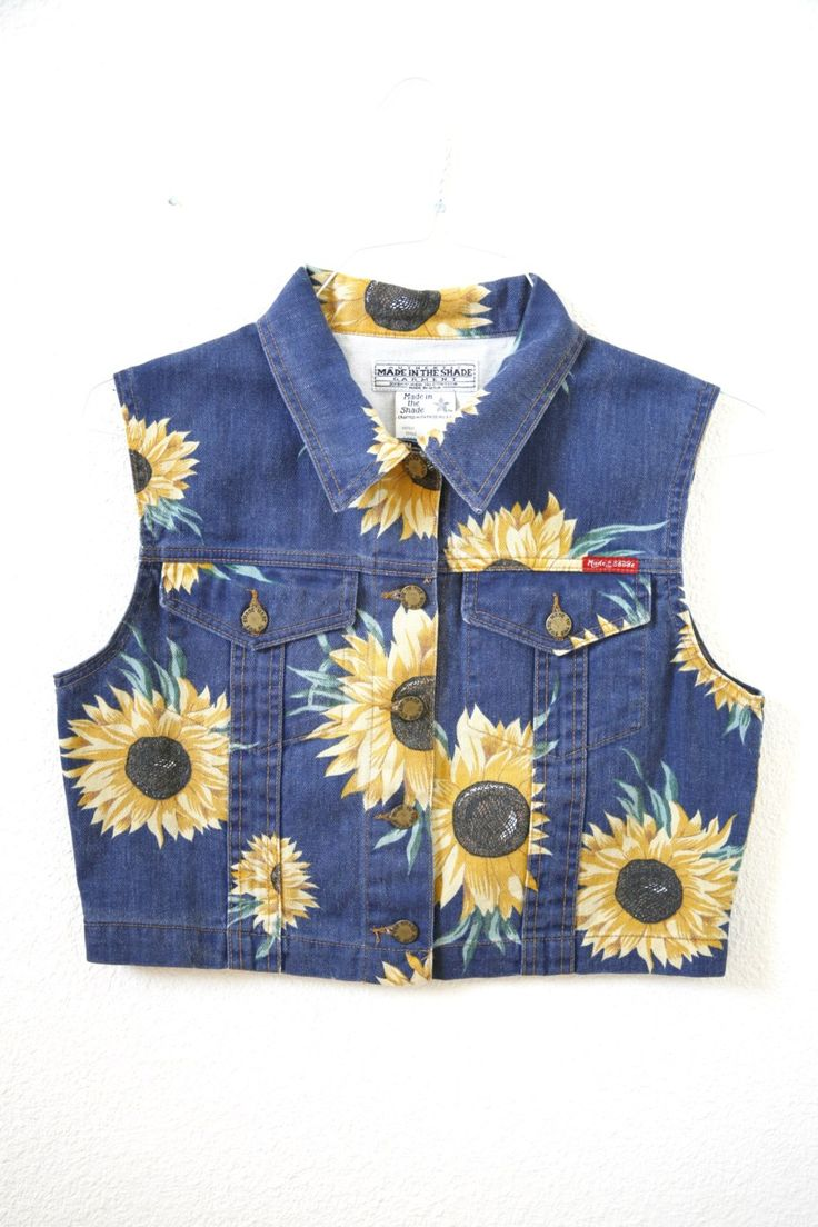 90s fashion | Tumblr - Sunflower Vest - would love to be able to pull this off. Maybe I'd manage it?!