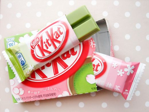 Green Tea Cherry Blossom Kit Kat's (Japan).  I would love to try these!