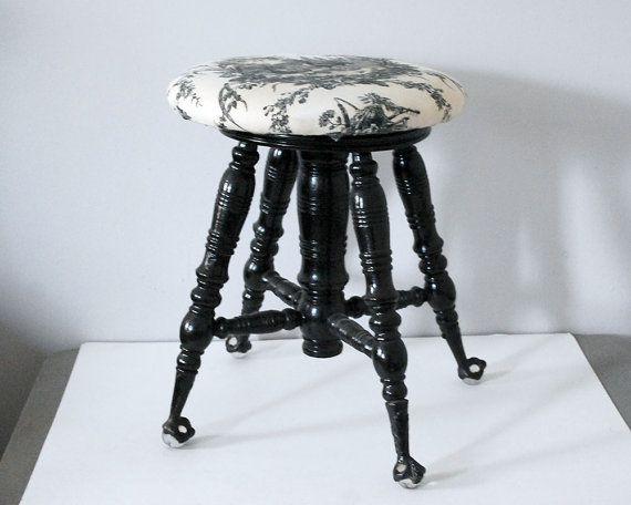 Victorian Piano Stool Black Wood Stool Country by CalloohCallay #antique # piano #stool # & Best 25+ Piano stool ideas on Pinterest | Piano bench White piano ... islam-shia.org