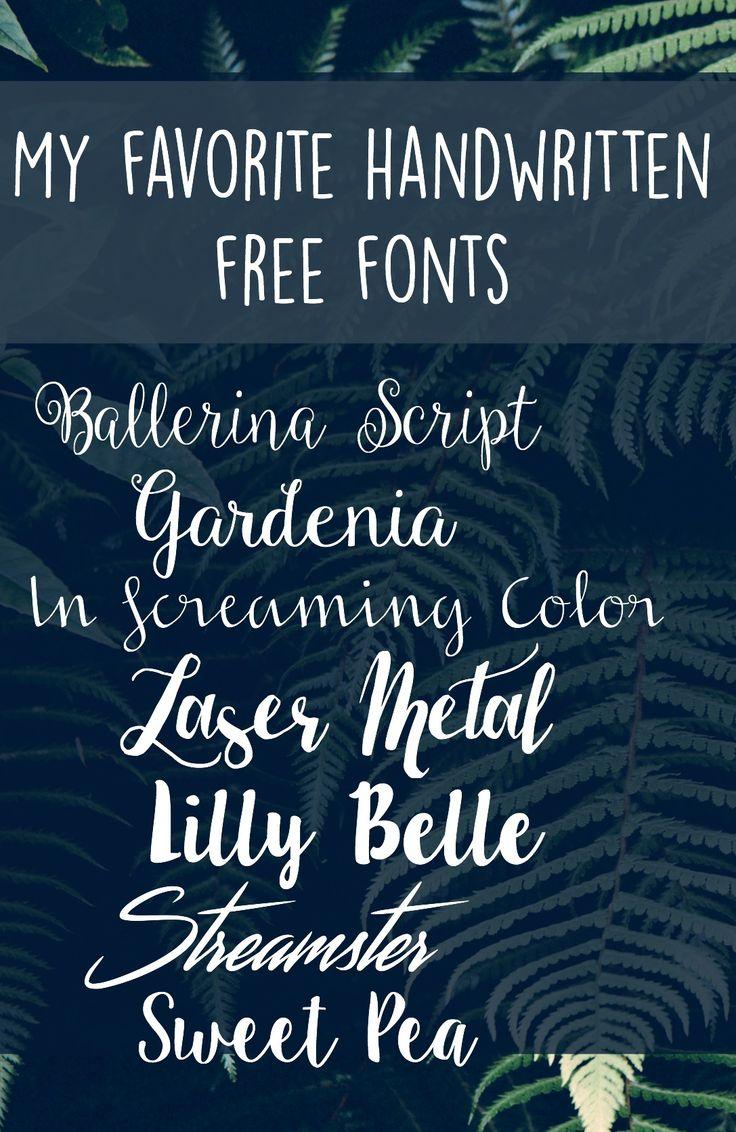Best 25+ Handwritten free fonts ideas on Pinterest ...
