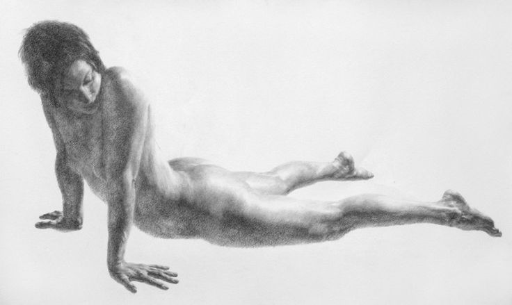 """Laura Seal, 2006, charcoal on Coventry rag paper, 35"""" x 59"""" / Wendy Artin"""