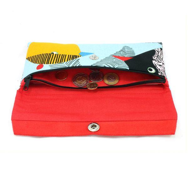 Jak uszyć duży portfel z kieszonką na zamek i slotami na karty, wykrój krawiecki + instrukcja szycia