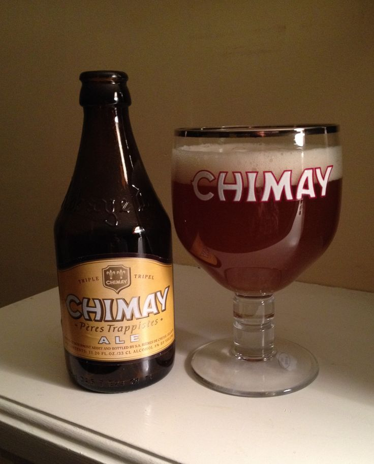 Chimay's Tripel (white) is 8 ABV and pours cloudy unfiltered orange.  The nose and taste are Belgian yeast, fruity sweet, and spicy finishing crisp and dry with a mild bitter hop.  Mouthfeel and texture is moderate and the alcohol pleasant and warming.  This is my last of the 3 major Chimay brews and while I preferred the Grand Reserve (blue) they are all excellent and classics every enthusiast has to try.
