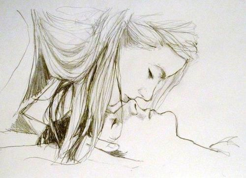 Beautiful drawing of a couple...identity unknown. A few guesses: Amy and Rory, Sherlock and Molly, Merlin and Freya. My money is on Amy and Rory, but I don't know for sure.