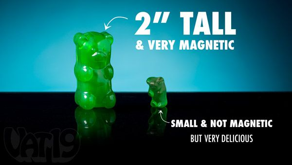 Gummy Bear Magnets are more than two times taller than a standard candy gummy bear. $12.99