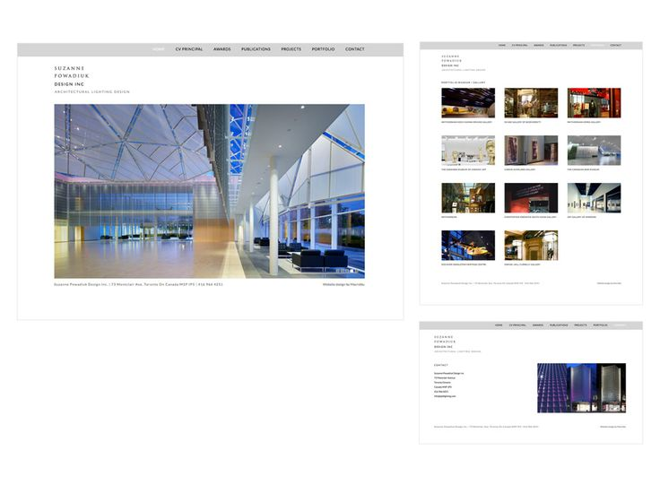 SPD Lighting website design by Macroblu.