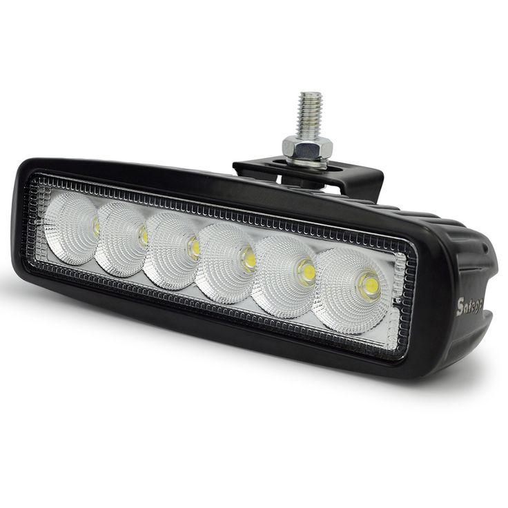 1pcs 18w led work light bar 12V spot flood fog lamp LED off road lights Led offroad light bar for trucks ATV 4X4 Car tractor 24V
