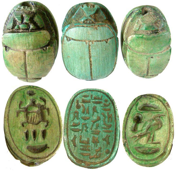 egyptian limestone scarabs