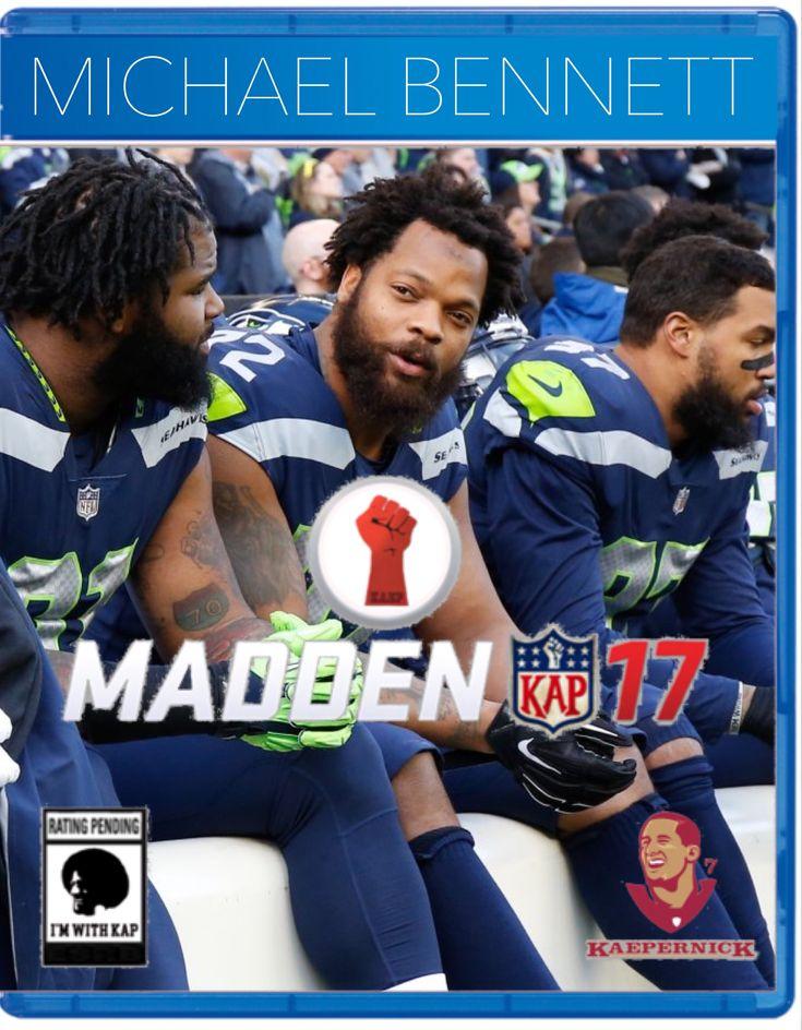Michael Bennett PS4 Madden '17 Seattle Seahawks National Anthem Week 17 12/31/17 #imwithkap