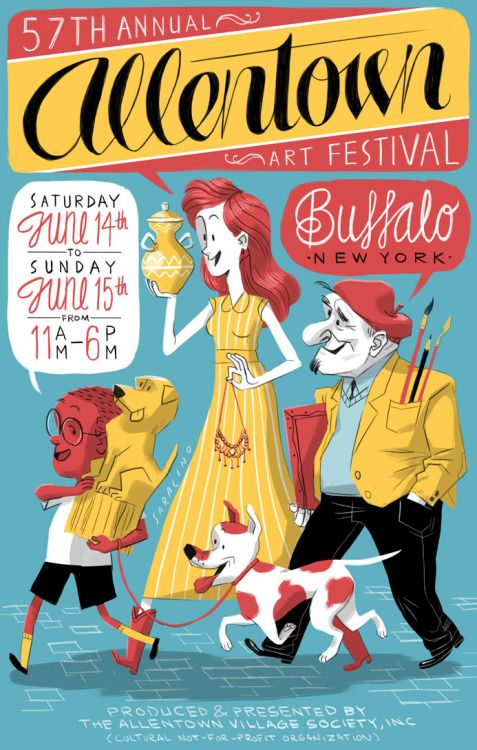 Poster entry for the 57th Annual Allentown Art Festival in Buffalo, NY #illustration #design #color #buffalo