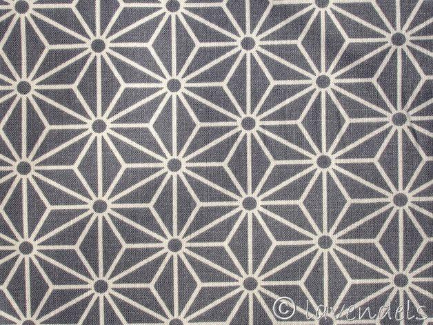 Stoff grafische Muster - Skandinavischer Stern grau ♥Ökotex ♥ Baumwollstoff - ein Designerstück von lavendels bei DaWanda