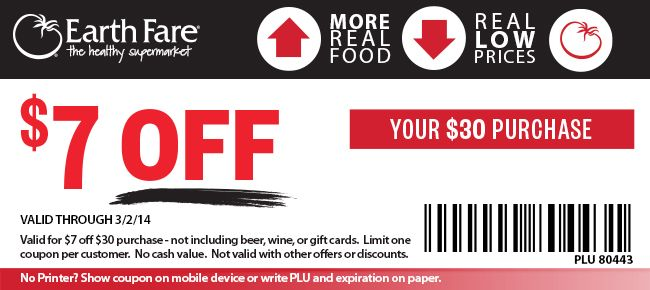 Earth Fare Coupon share! Love this store!
