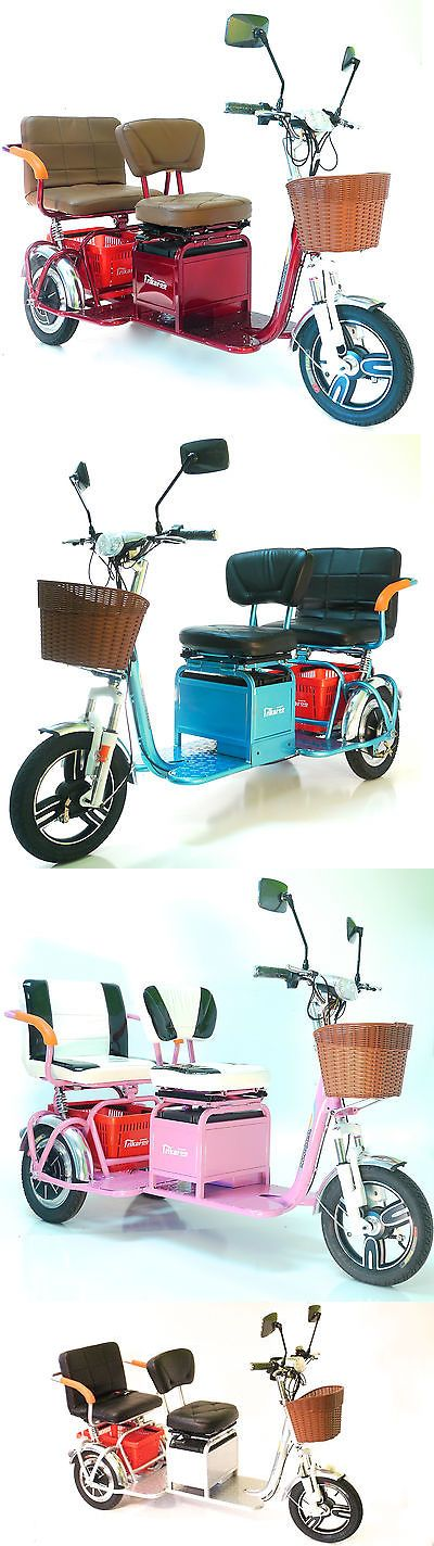 Mobility Scooter Parts: New Trikaroo 2 Person Electric Mobility Scooter Pedicab E-Bike Two Seat Tricycle -> BUY IT NOW ONLY: $3495 on eBay!