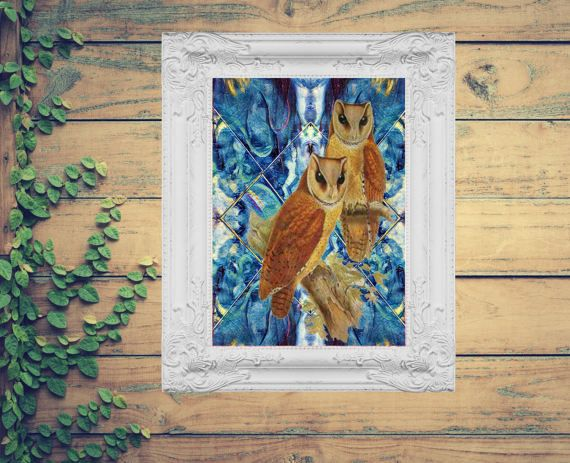 Hey, I found this really awesome Etsy listing at https://www.etsy.com/au/listing/504656870/blue-background-owl-print