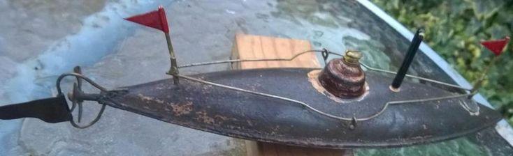 Ernst Plank EP clockwork submarine boat ship bing Germany works key