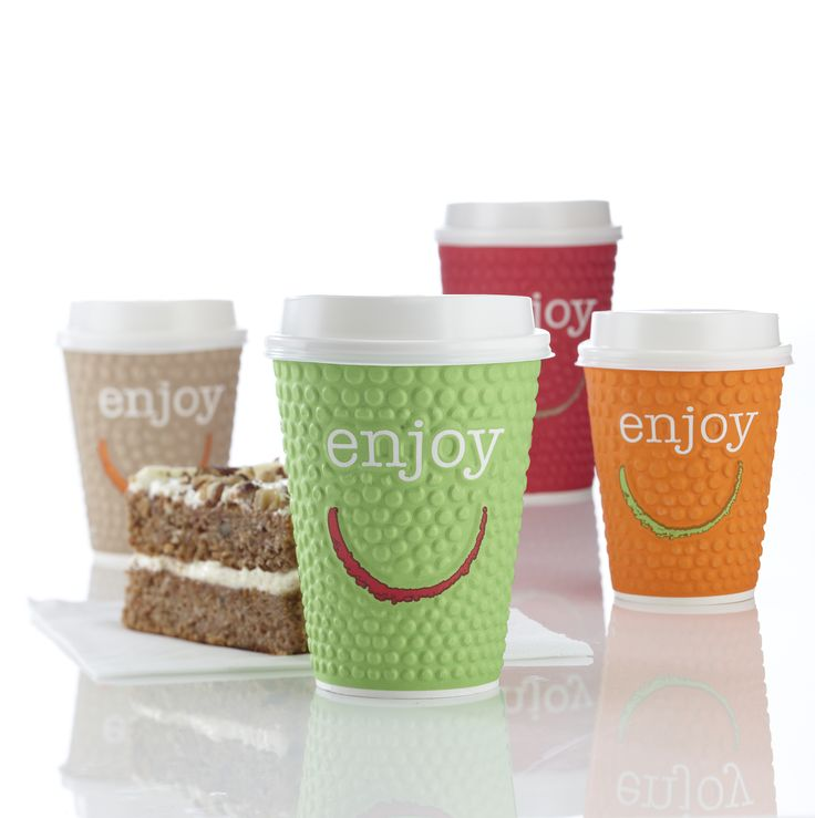 The double wall structure of the new 'Enjoy' cups protects customers' hands from the warmth of hot drinks without the need for double-cuppig or the use of sleeves, thus minimising costs and reducing storage space.