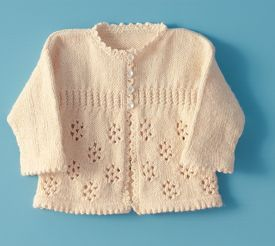 Precious Girl's Knitted Sweater free pattern
