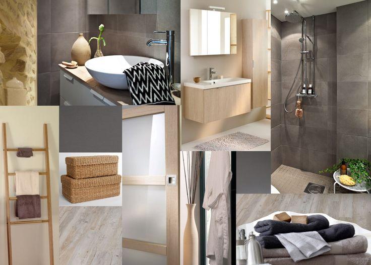 Planche tendance pour une salle de bain à l'esprit scandinave