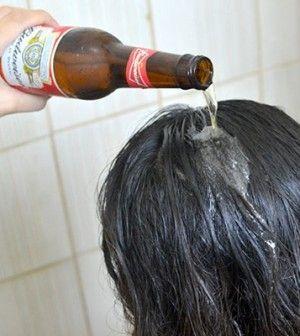 A samponszappanos hajmosás után ajánlott az öblítés sörrel, almaecetes vagy citromleves vízzel