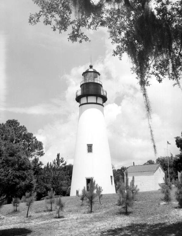 The Amelia Island Lighthouse is Florida's oldest original lighthouse, built in 1838 (1964). | Florida Memory